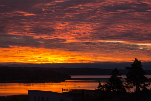 sea sunrise sweden forsbäck
