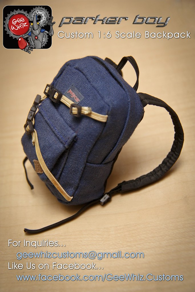 eaed7cee 1:6 Custom Made Parker Boy Backpack   Custom Made Backpack f…   Flickr