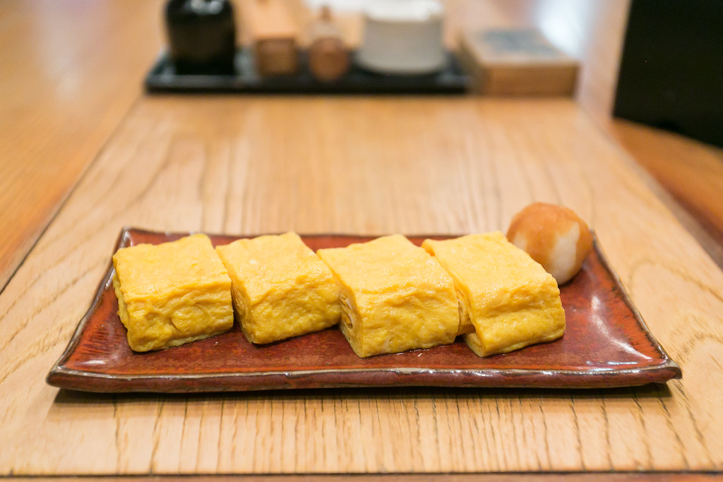 Tamago - Japanese style omelette from a japanese grocery store