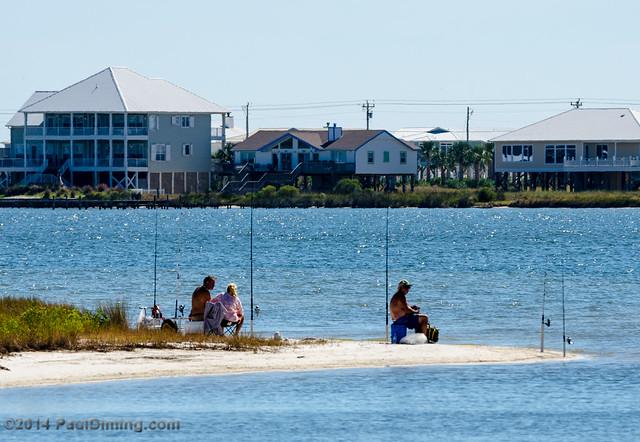 Family Fishing @ Childress Pt. - Bon Secour NWR, Gulf Shores, AL