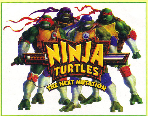"""Tomart's Action Figure Digest #xx :: pgs.26, 27 TOY FAIR '97, PLAYMATES """"NINJA TURTLES: THE NEXT MUTATION / ..early N.M. logo  (( April 1997 )) by tOkKa"""