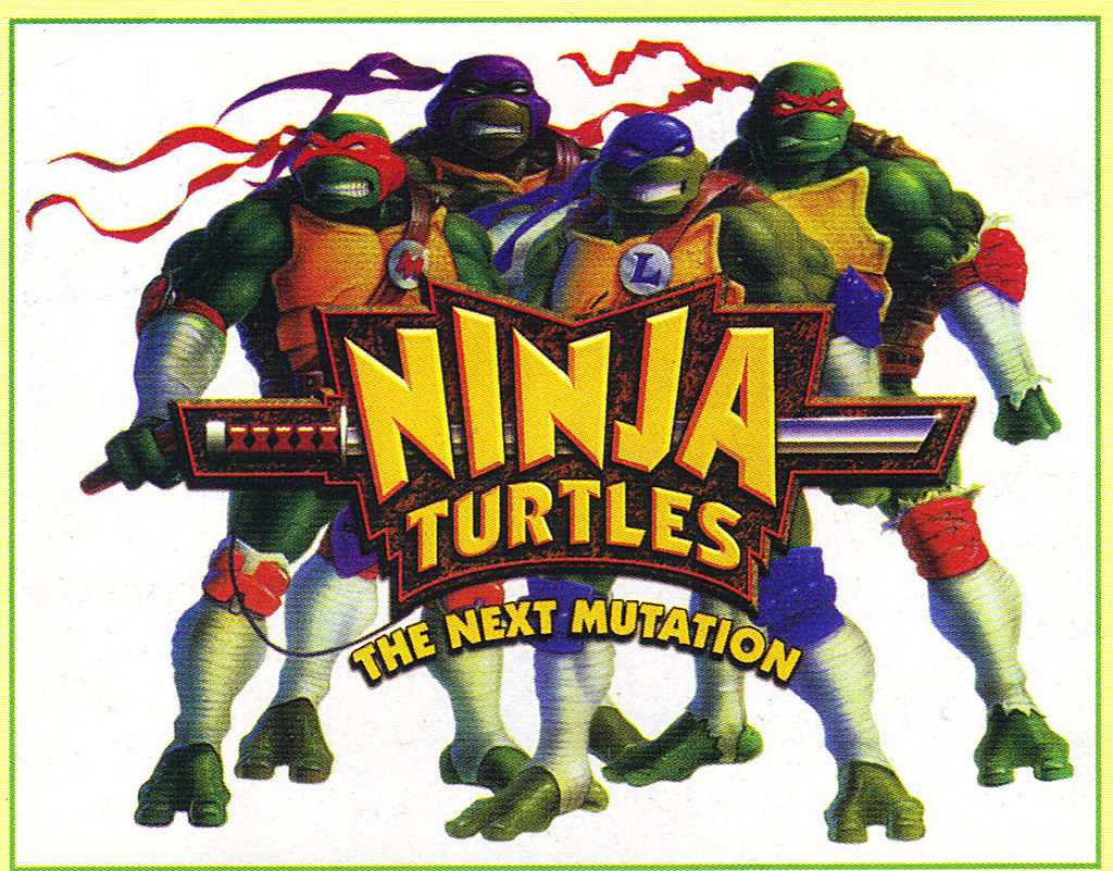 "Tomart's Action Figure Digest #xx :: pgs.26, 27 TOY FAIR '97, PLAYMATES ""NINJA TURTLES: THE NEXT MUTATION / ..early N.M. logo  (( April 1997 )) by tOkKa"
