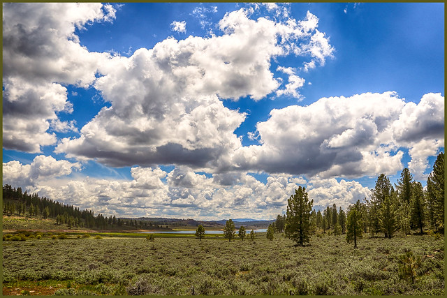 A great day for cloud watching at Frenchmans Lake