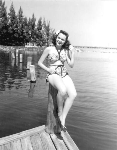 1940s two piece bikini photo