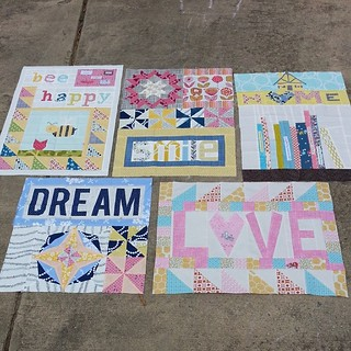 @valbetweenquilts quilt for #circle7 . I added the word LOVE.