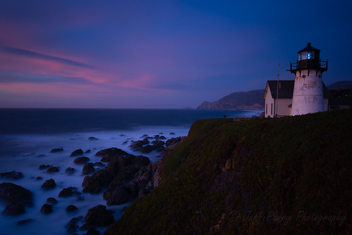 ocean california longexposure sunset lighthouse seascape color clouds landscape coast twilight nikon rocks pacific landmark filter bayarea montara 400iso 2014 sanmateocounty devilsslide coastside d600 pointmontara fogsignal oceanscape bigstopper