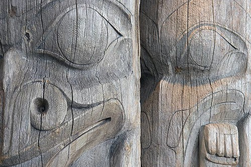 Coast Salish First Nation Totem Poles, British Columbia, Canada