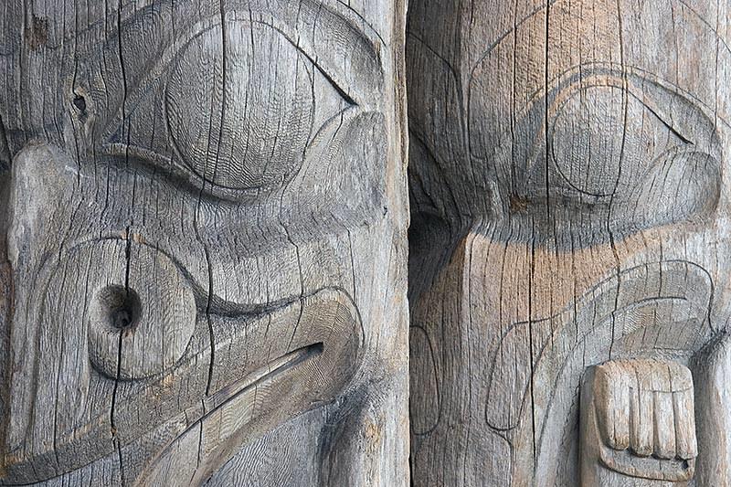 Coast Salish First Nation Totem Poles, British Columbia, Canada