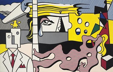 Lichtenstein, Roy (1923-1997) - 1977 Landscape with Figures (Christie's New York, 2014)