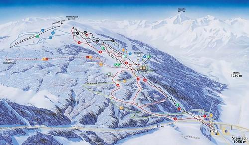 Steinach am Brenner - mapa sjezdovek