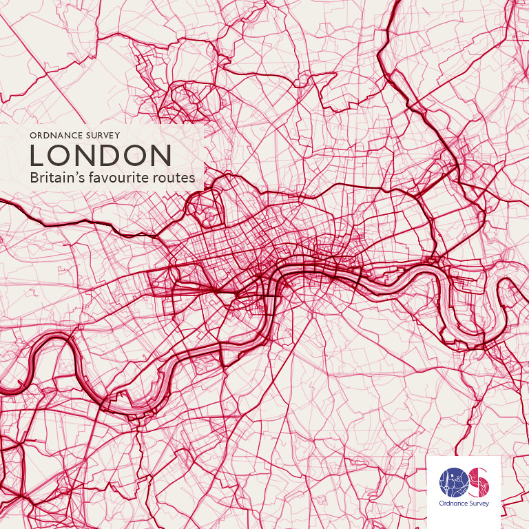 OS Maps routes in London