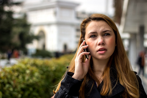 Talking on the Phone   by MLazarevski