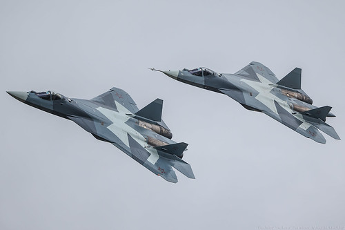 T-50 PAK-FA (T-50-4 and T-50-1) | by RealHokum