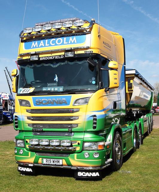 Malcolm Construction Scania R560 V8 R19 WHM Truckfest Peterborough 2013