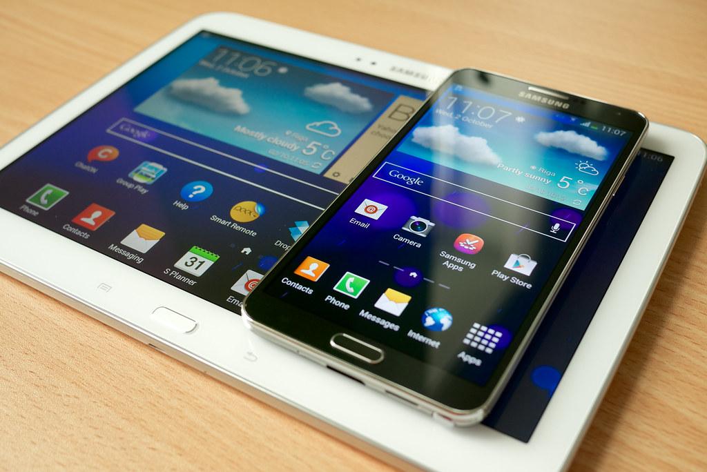 Samsung Galaxy Note 3 | vs Galaxy Tab 3 10 1 | Kārlis Dambrāns | Flickr