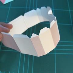 วิธีทำโมเดลกระดาษเป็นกล่องของขวัญรูปหัวใจ (Heart Box Papercraft Model) 005