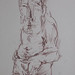 """Figura humana masculina""./""Human male figure"". Lápis sobre papel/Pencil on paper, 1985."