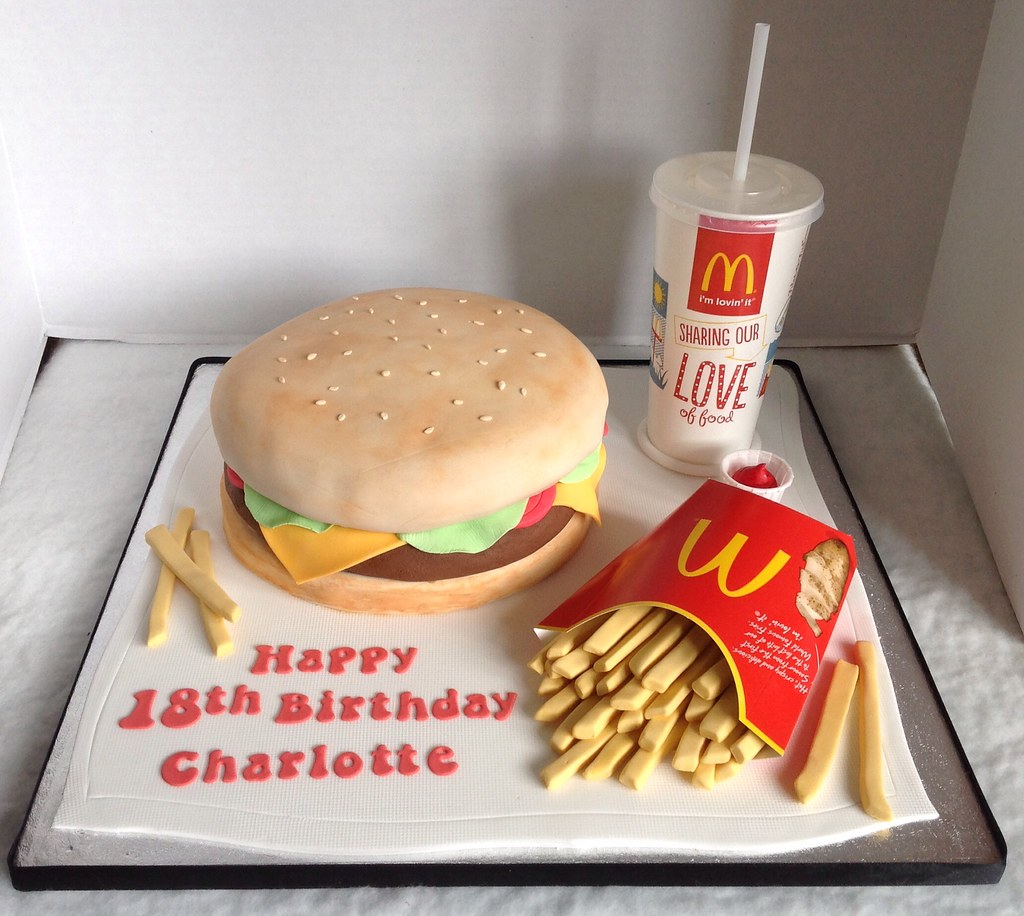 Astounding Mcdonalds 18Th Birthday Cake Liz Flickr Birthday Cards Printable Nowaargucafe Filternl