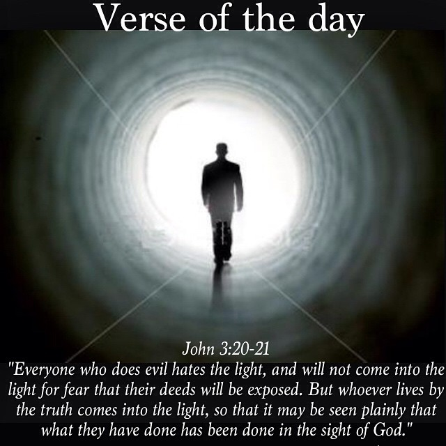 Image result for John 3:20-21