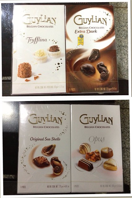 Assorted GuyLian Belgian Chocolates. The Extra Dark even had the Superior taste award. I like it better than the Trufflina, Original Sea Shells, and Opus!