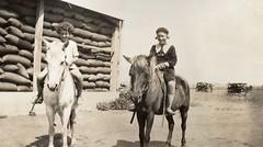 Hazel Good (left) 1935 (daughter of Calomba wheat agent Syd Good)