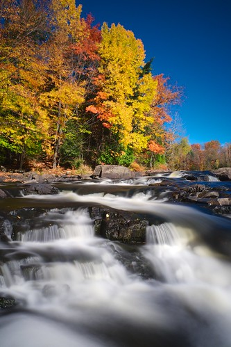autumn fall water river flow gold stream colours cascade