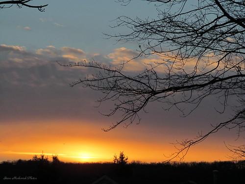 trees winter sky west clouds sunrise canon newjersey cloudy powershot milford paintedsky sx150is smack53 wmsunrise wmmorningsunshine
