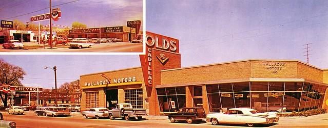 Halladay Motors, Olds-Cadillac, Cheyenne WY, 1959