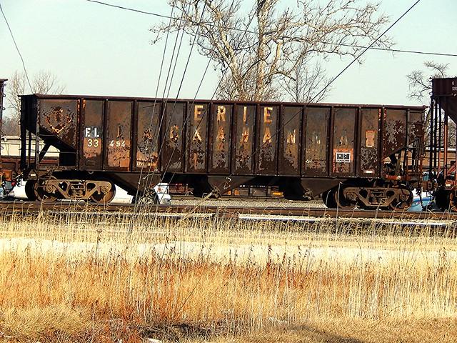 Erie Lackawanna coal car at New Haven Indiana