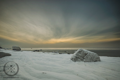 winter sunset sky snow cold ice beach water clouds landscape evening coast frozen suffolk nikon rocks scenic wideangle northshore local lowtide frigid northfork eastend longislandsound beachcomber lisound d610 cutchogue nofo nikkor1635mmf4vr northforker