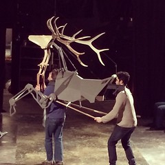 Fri, 2015-01-30 16:22 - This new stag puppets is designed to be ridden by an actor!