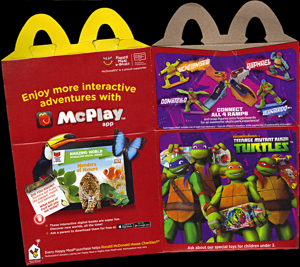 "McDonald's Happy Meal :: ""TEENAGE MUTANT NINJA TURTLES Skate Park & FURBY BOOM!"" box ii (( 2014 )) by tOkKa"