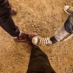 #橋の下 で履き初め マーチンとコンバースに踏んでもらいました。 橋の下歌舞伎24日まで! #ドクターマーチン #チェルシー #チェリーレッド
