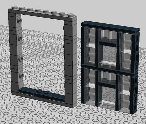 Brick-built windows.