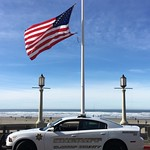June 8, 2016 - 08:50 - On February 5th of 2016, Seaside police Office Sergeant Jason Goodding was shot and killed during the arrest of a wanted Felon in downtown Seaside Oregon in Clatsop County two blocks from the flag that overlooks the Pacific Ocean. He was our friend, my neighbor and loved by all in this community and is truly missed. He leaves behind a wife and two young beautiful daughters. Over 4000 people attended his funeral from all over the United States. Seaside has a population of about 6000 people. We honor this man by flying the flag of the United States of America at half mast and as Deputy Sheriffs we stand united with our fellow municipal Officers. My Deputies are proud men and women who sacrifice much and understand that every day they too may see their end of watch. Thank you for this opportunity. Sheriff Tom Bergin Credit: Deputy Chance Moore, Clatsop County Sheriff's Office