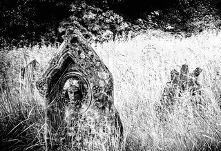 Headstone with Stone Head | by k5pentaxian1