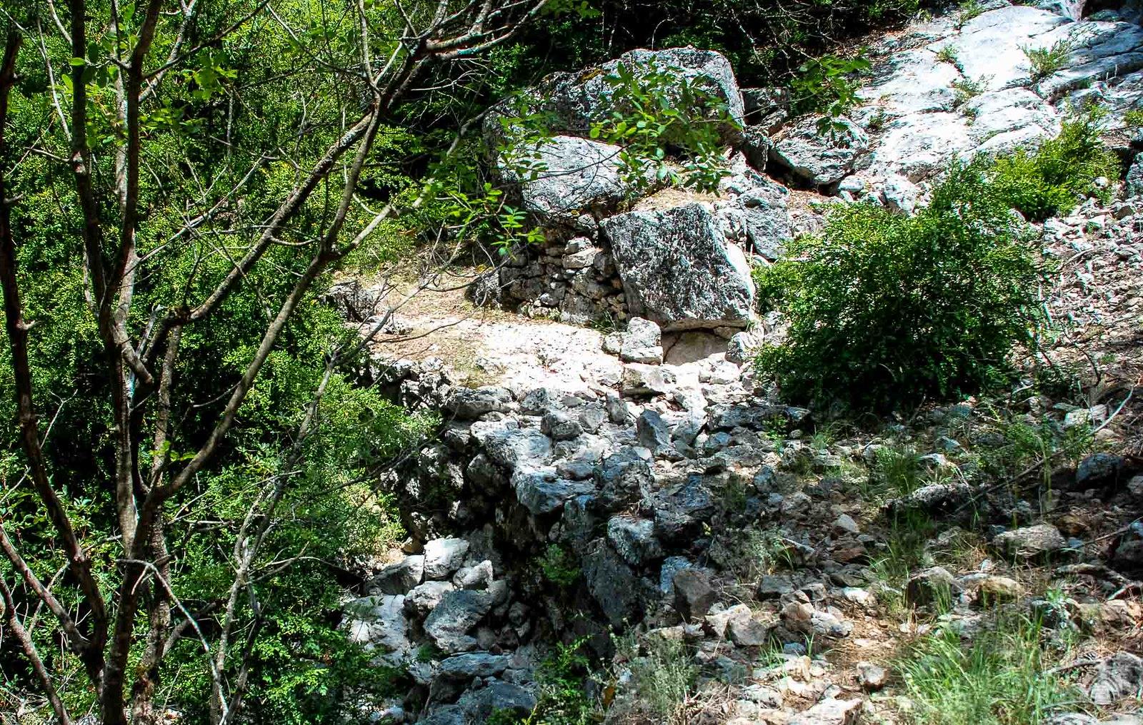 Hormas de piedra en las vaguadas