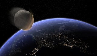 Earth Impacting Asteroid | by Kevin M. Gill