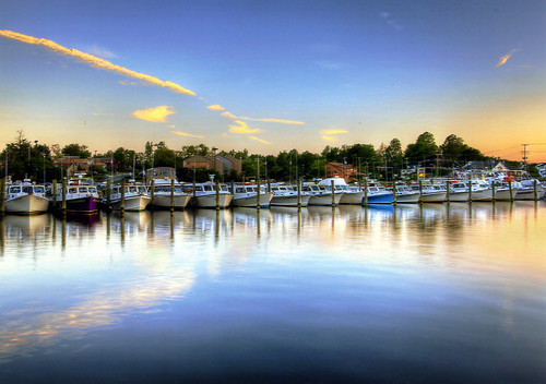 Docked for Sunset by Adrian James Testa