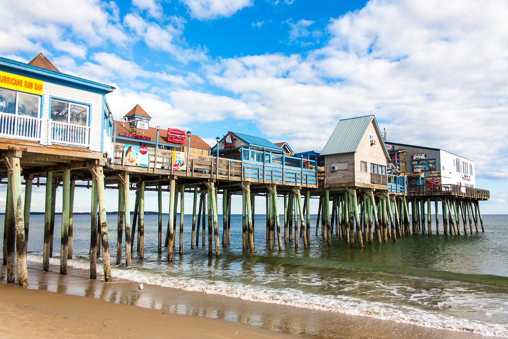 Old Orchard Beach Pier | Taken on the beach at Old Orchard B… | Flickr