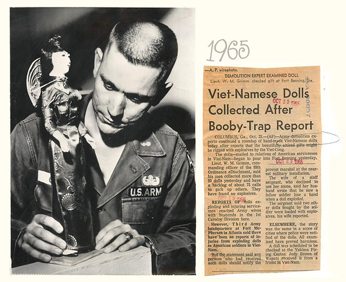 1965 Demolition Expect Examines Doll for Viet Cong Booby Trap | by Tommy Truong79