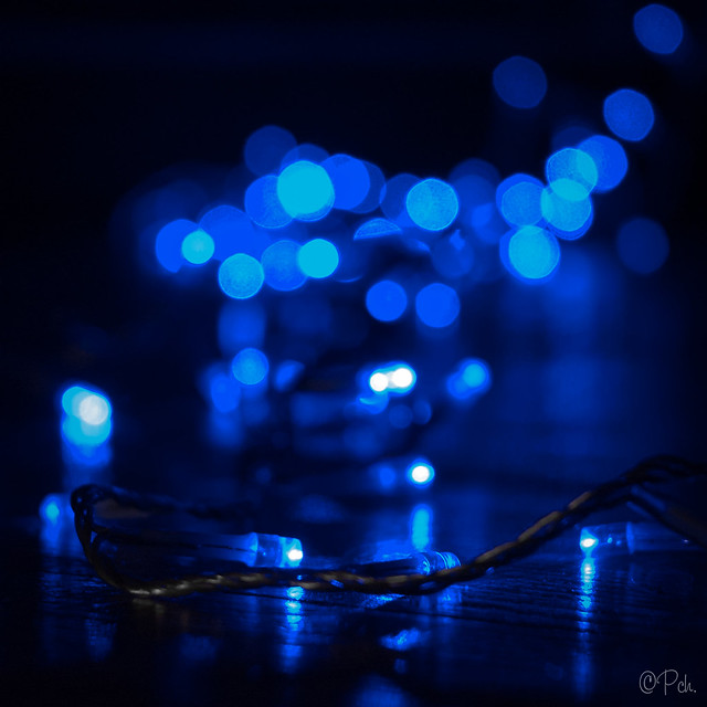 Blue Bokeh (Before/After)