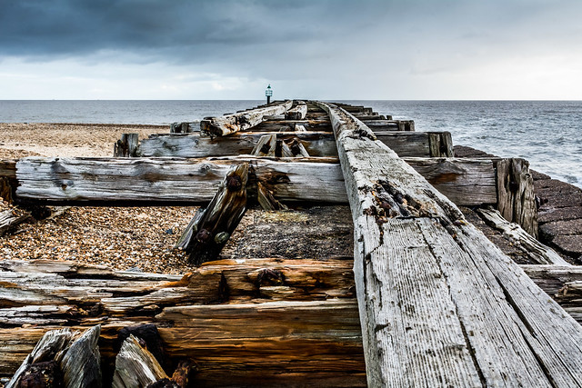 Weathered jetty at Felixstowe