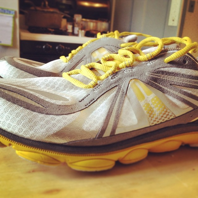 Pretty stoked about my new running shoes. Happy Birthday to me.