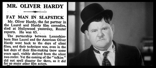 7th August 1957 - Death of Oliver Hardy | by Bradford Timeline