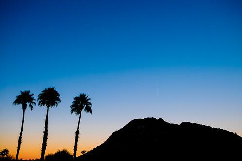 morning arizona mountain phoenix silhouette sunrise fuji desert az palmtrees fujifilm 1855mm camelback lightroom xt1