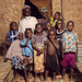 Soumana, his sister Hadjo, and children from Kosseye Satom pose for a picture