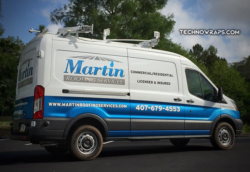 Partial wrap on full size cargo van designed by TechnoSigns