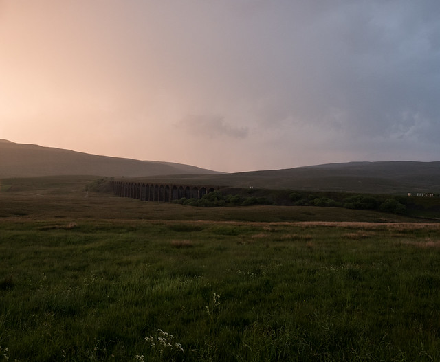 Yorkshire Dales at sunset .....
