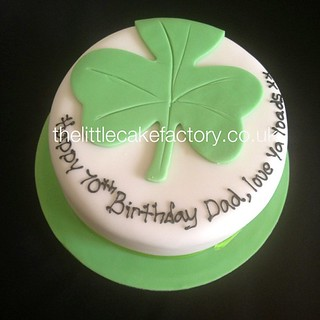 Irish Shamrock Leaf Cake 70th Birthday Dad